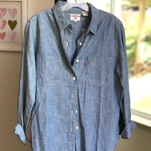 Levi's Boyfriend Fit Soft Denim Shirt
